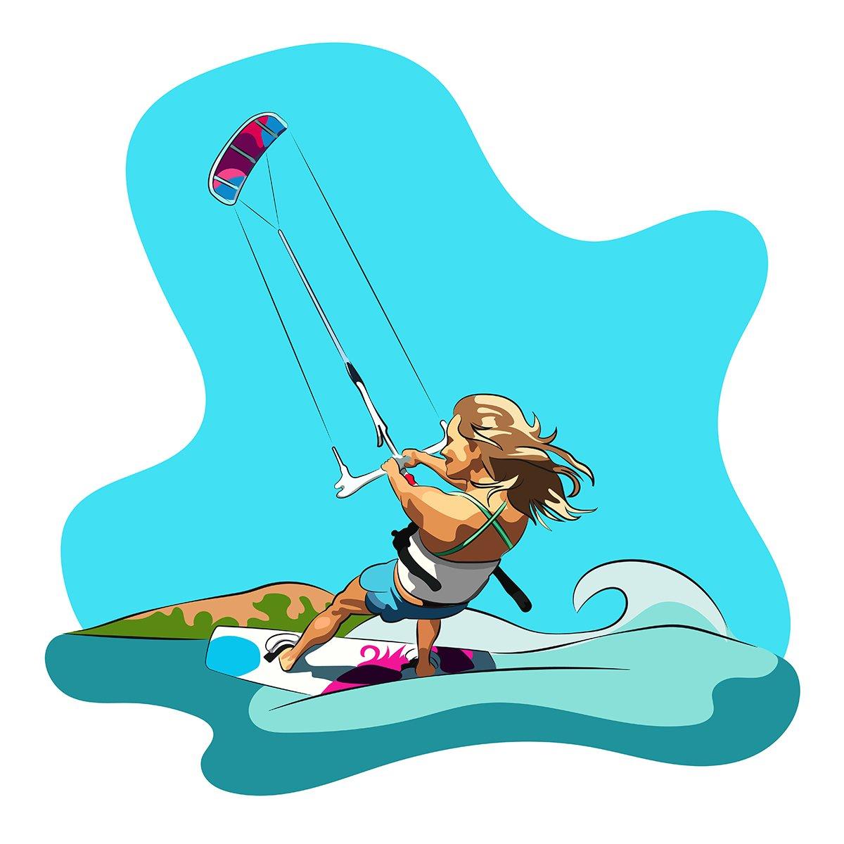 grafica vettoriale - kitesurf