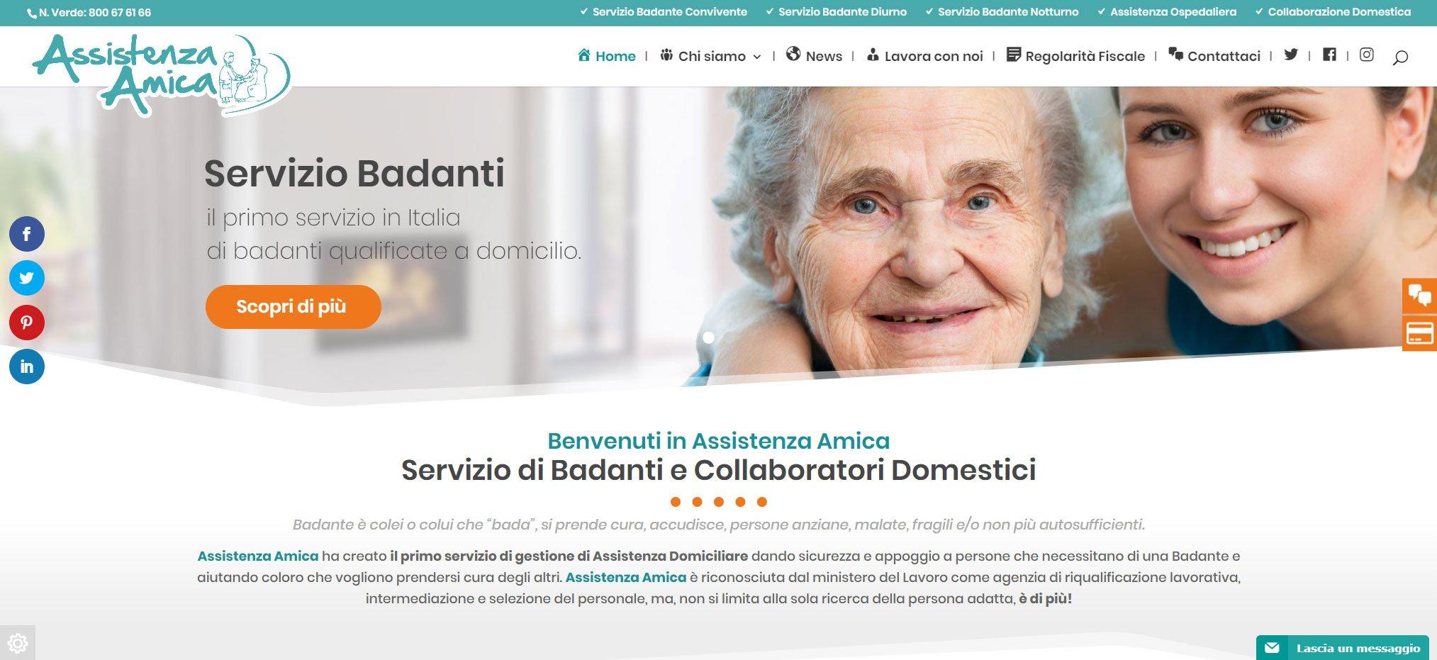 sito web assistenza amica