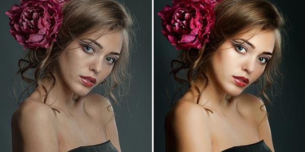 modificazioni foto volto femminile