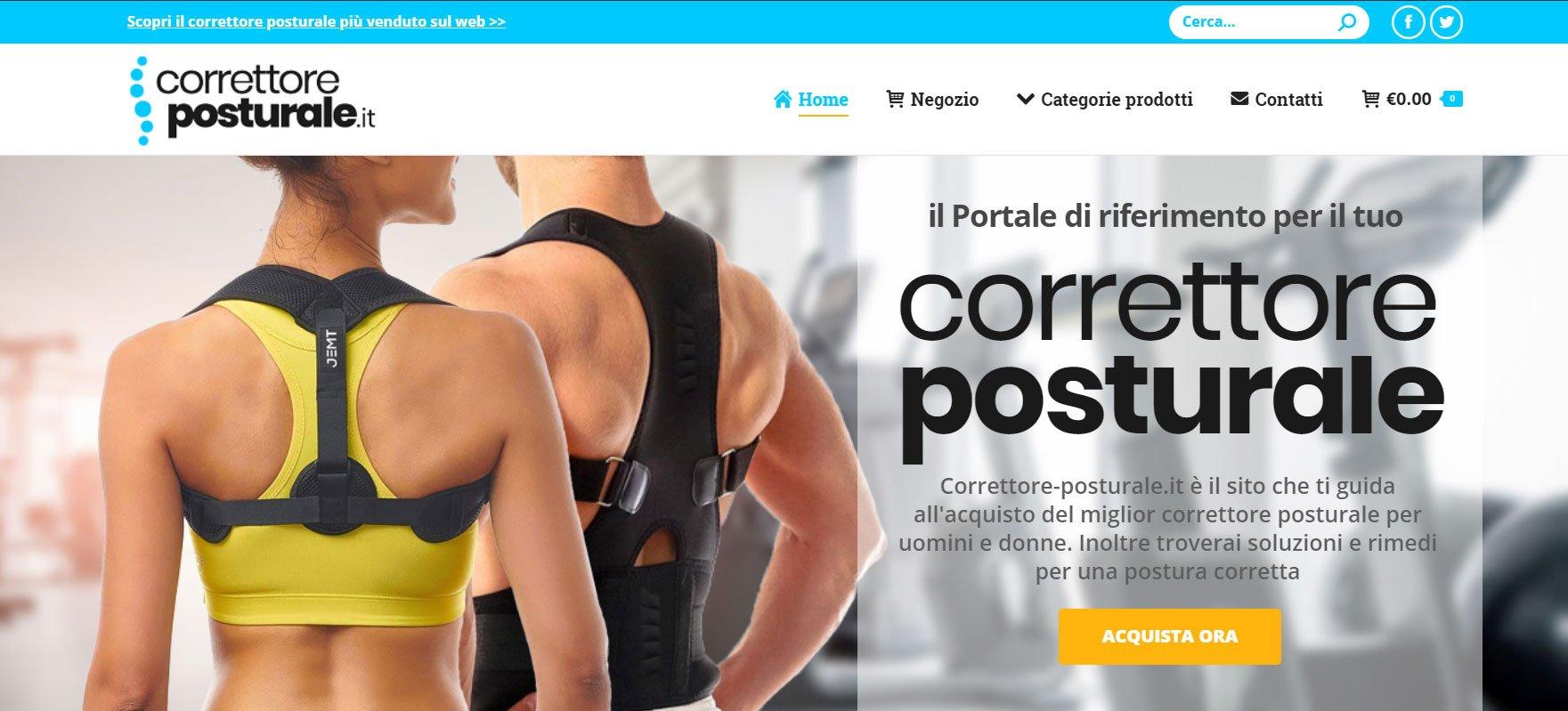 correttore posturale sito web