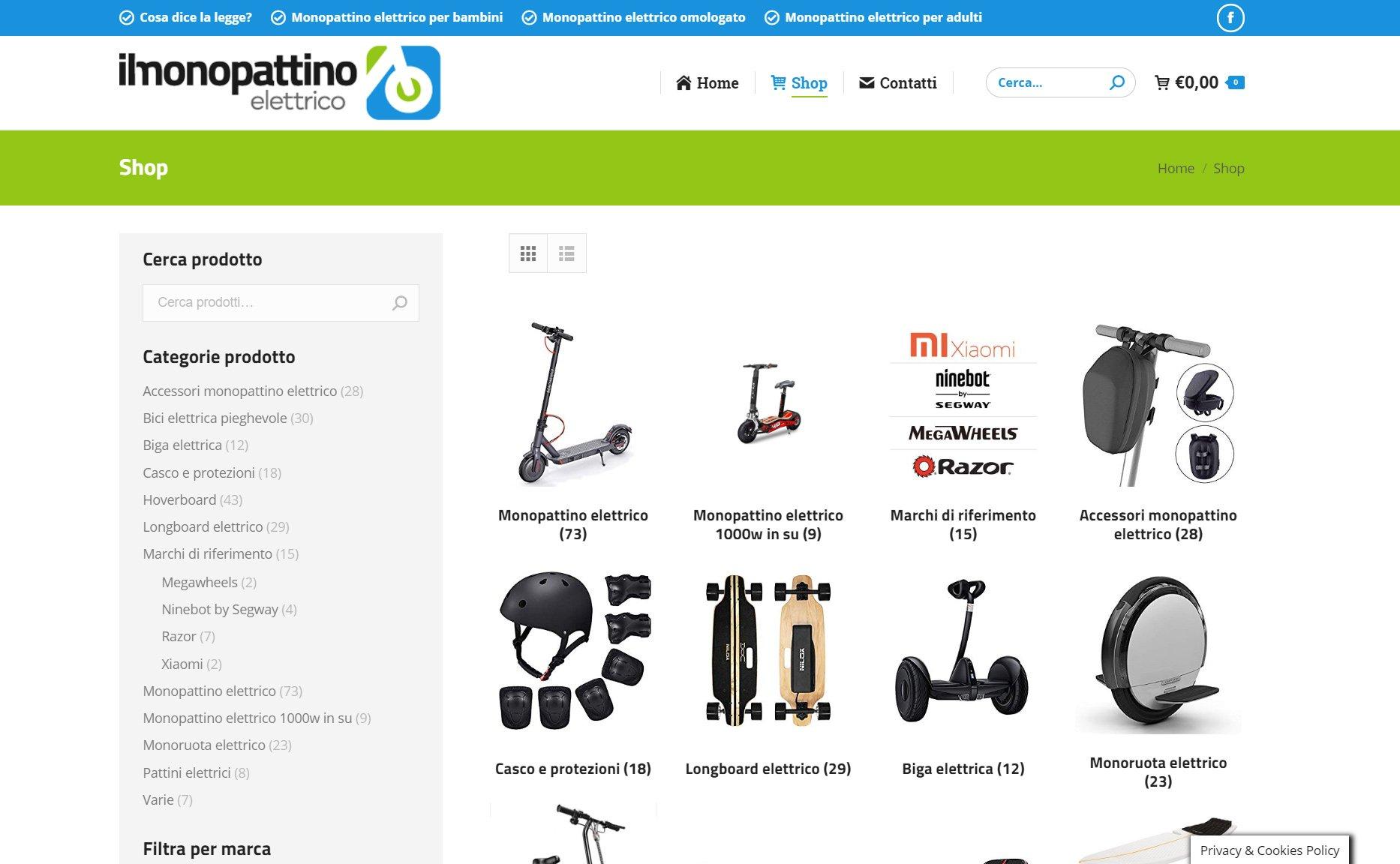 monopattino elettrico shop online