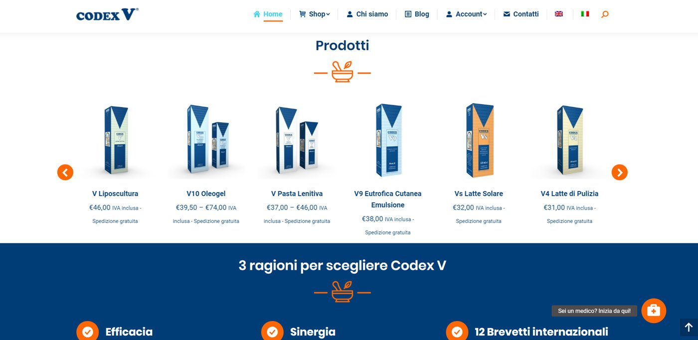 codex v e-commerce